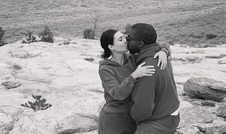 Kim Kardashian shares rare PDA picture with hubby Kanye West