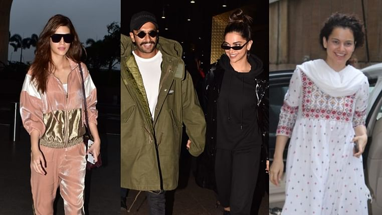 Celebrity spotting: Kangana Ranaut, Kriti Sanon, Ranveer-Deepika and others spotted