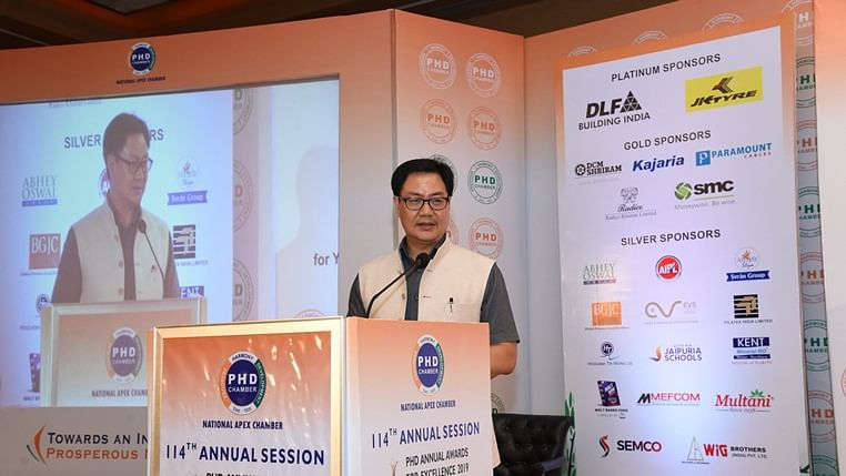 Totally stand with the NRAI and IOA: Kiren Rijiju