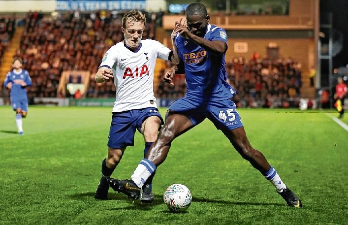 Fourth-tier Colchester shoots Spurs out of League Cup