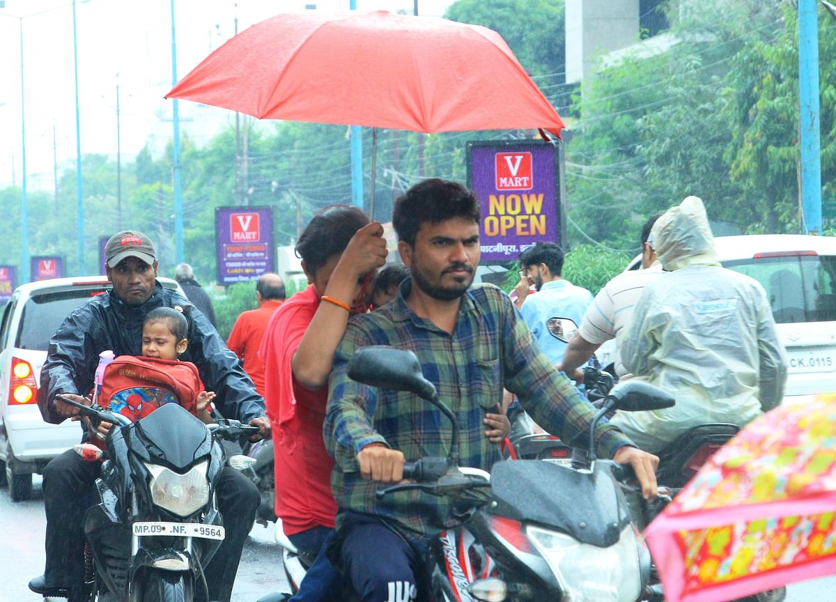 Indore: With rains, temp drops 9 degrees C below normal