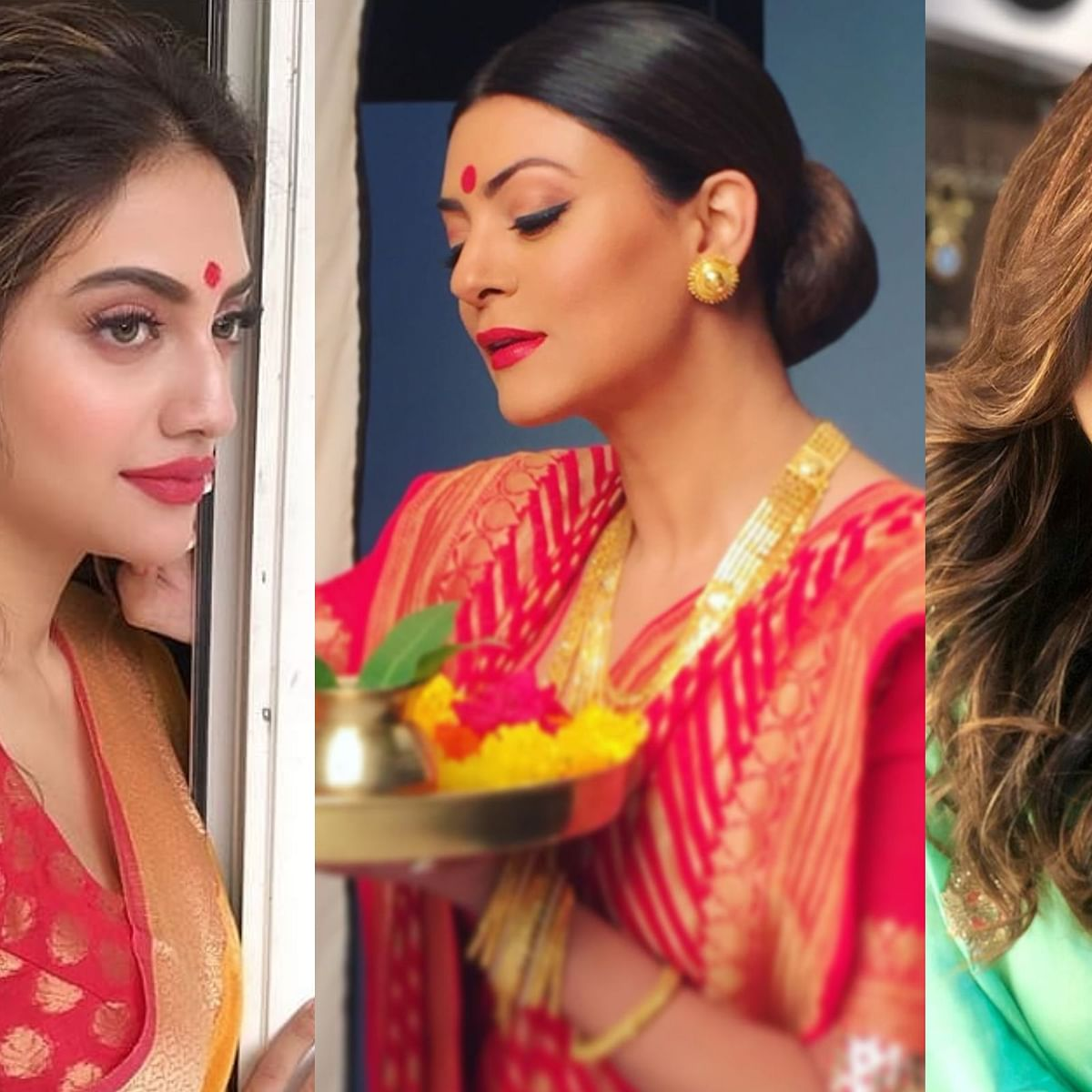 Durga Puja 2019: From Nusrat Jahan to Sushmita Sen, these Bengali beauties will give you new fashion goals