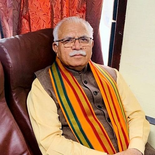 Cycle to Karnal: Khattar eschews VIP treatment, takes train and two-wheeler to cast his vote