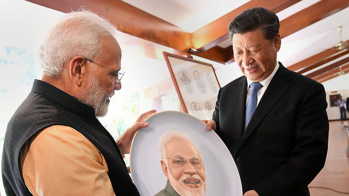 Prime Minister Narendra Modi and Chinese President Xi Jinping.