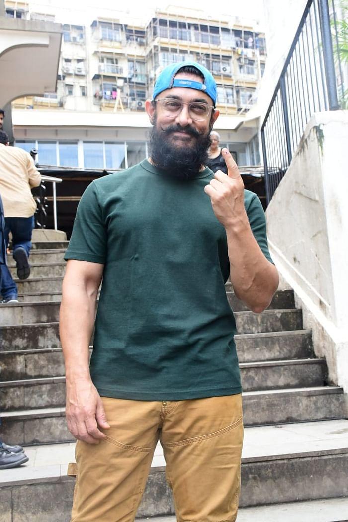Maharashtra Election 2019: Mumbai's glamorous celebs including Aamir Khan, Lara Dutta step out to vote