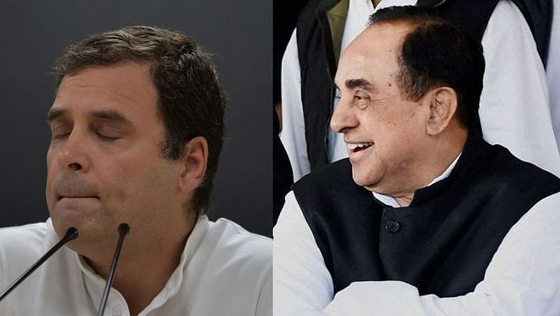 'Pappu caught in his own web': Swamy claims Rahul under-fire over his Indian citizenship