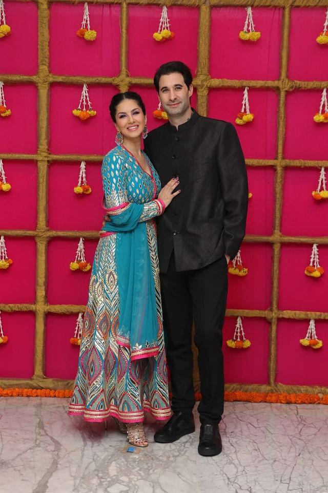 Sunny Leone with Daniel Weber