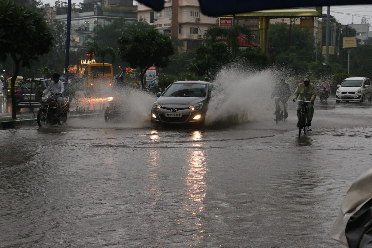 Indore: Rains lash city, waterlogging, jams along BRT corridor