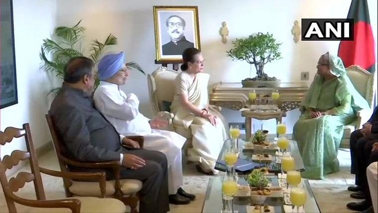 Bangladesh PM Sheikh Hasina meets Sonia Gandhi, Priyanka Gandhi Vadra, Manmohan Singh