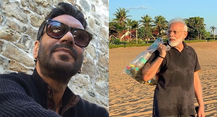 Our PM always leads by example: Ajay Devgn hails PM Modi for plogging at Mamallapuram beach
