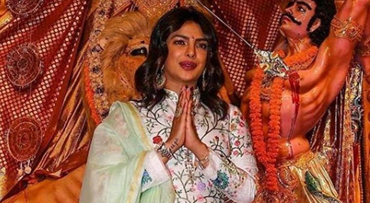 Priyanka Chopra stuns with her presence at Durga Puja celebrations in Mumbai