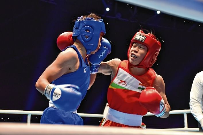 Mary Kom gives chills to Thai spunk in World Championships