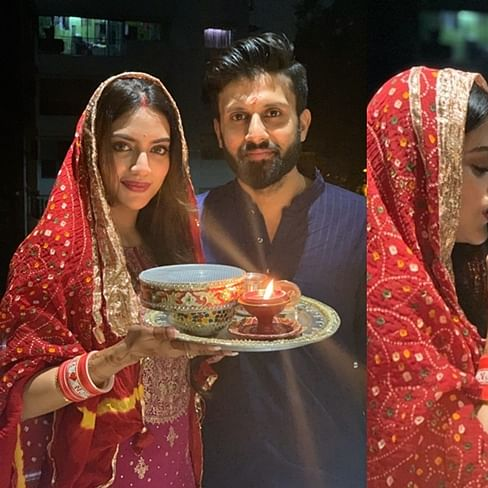 In pics: Nusrat Jahan ignores fundamentalists, observes Karva Chauth 2019 with panache