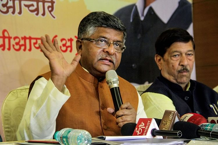 Minister for Communications Ravi Shankar Prasad.