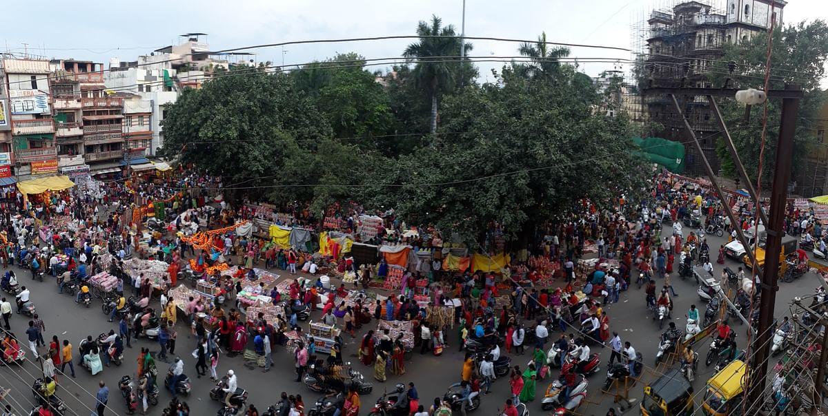 Indore: Traffic chaos at Rajwada