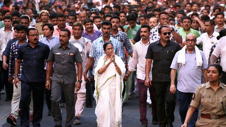 Mamata Banerjee walks 10 km for creating awareness on environment conservation