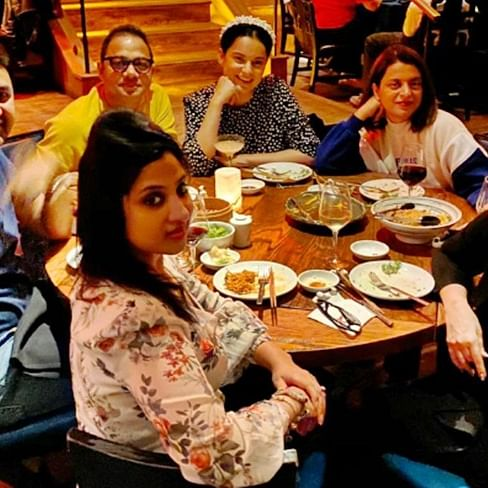 Kangana Ranaut bonds with 'Thalaivi' team in LA during look test