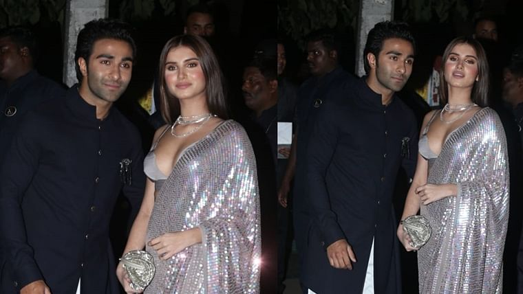 Tara Sutaria adds fuel to dating rumours, attends Bachchans' Diwali bash with Aadar Jain