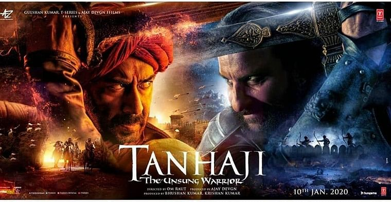 Tanhaji first look poster: Ajay Devgn and Saif Ali Khan look fierce