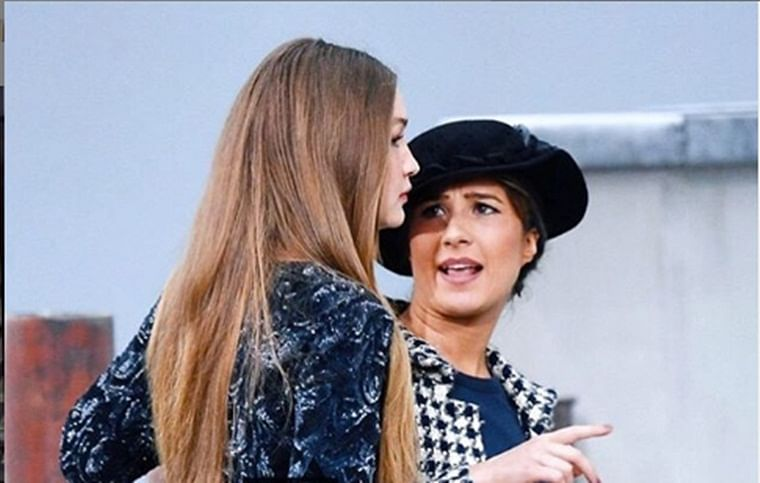 Gigi Hadid confronts woman who jumped on runway at Chanel's Paris Fashion Week show