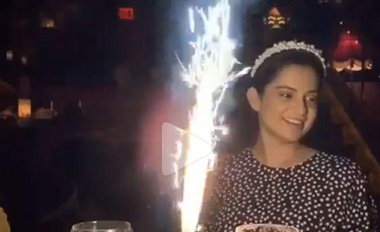 Video: Kangana Ranaut celebrates Diwali with 'Thalaivi' team in Los Angeles