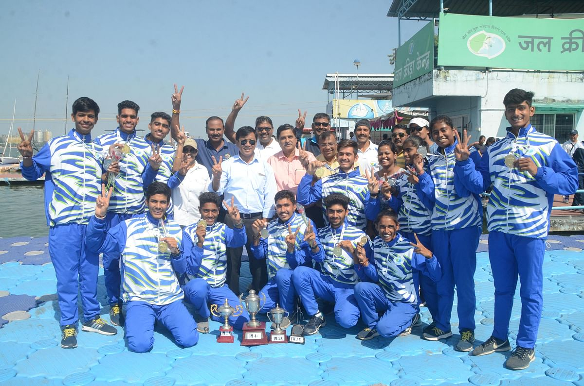 Bhopal: MP lifts Junior Rowing C'ship trophy