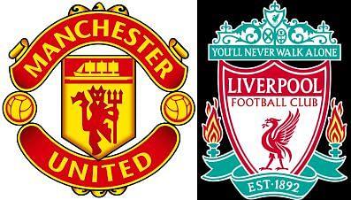 Man Utd vs Liverpool Logos