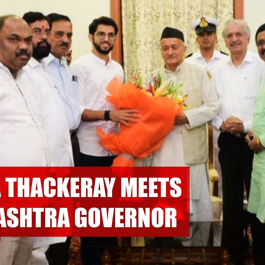 Shiv Sena Leader Aaditya Thackeray Meets Maharashtra Governor After Uddhav-Sonia Telephonic Conversation