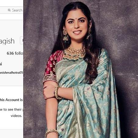 Isha Ambani has a secret Instagram account with Alia Bhatt, Priyanka Chopra as followers