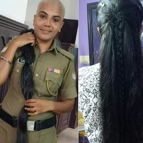 This Kerala cop is winning the internet for going bald and donating her long tresses for cancer patients