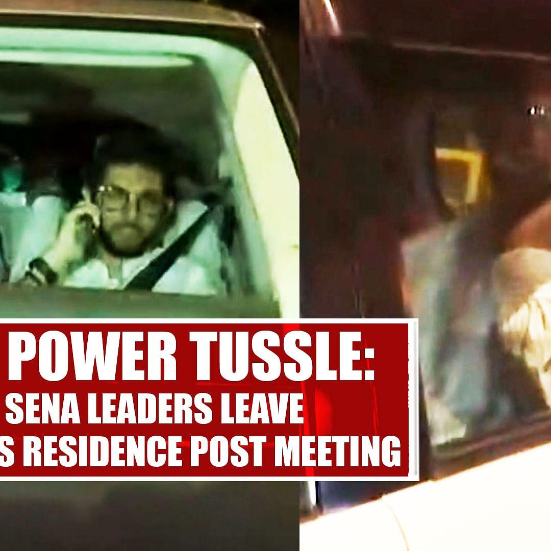 Maha Power Tussle: Shiv Sena Leaders Leave Uddhav Thackeray's Residence Post Meeting