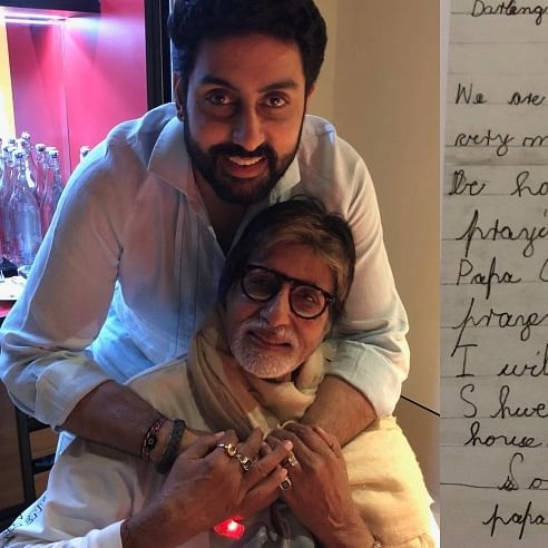 'Darling Papa, I miss you', Amitabh revisits Abhishek's letter to him from childhood