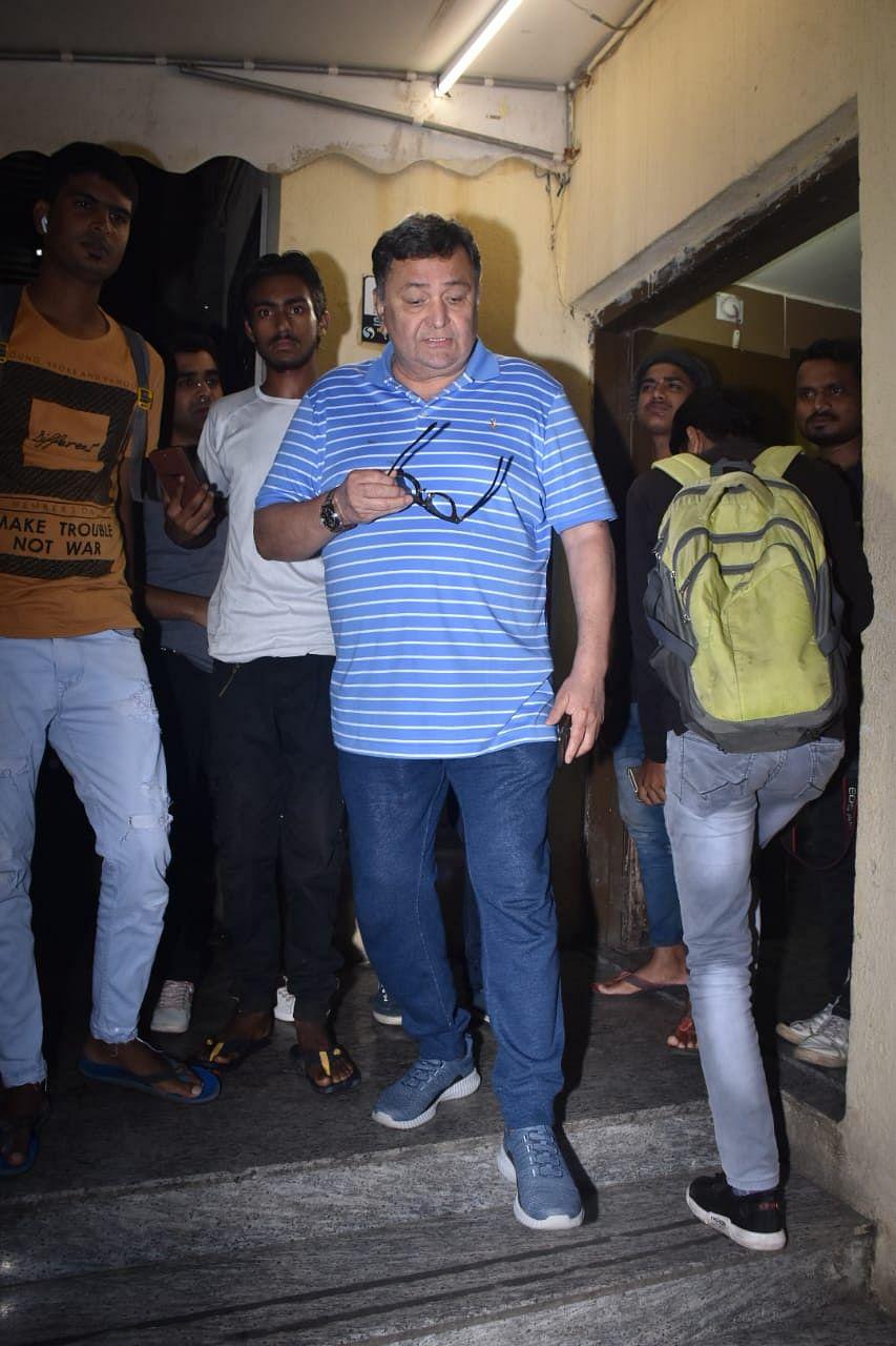 Rishi kapoor at Juhu PVR after screening of 'Bala'