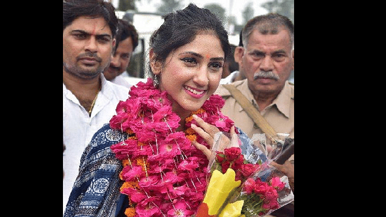 Cong MLA Aditi Singh gets emotional on her wedding day, remembers her father