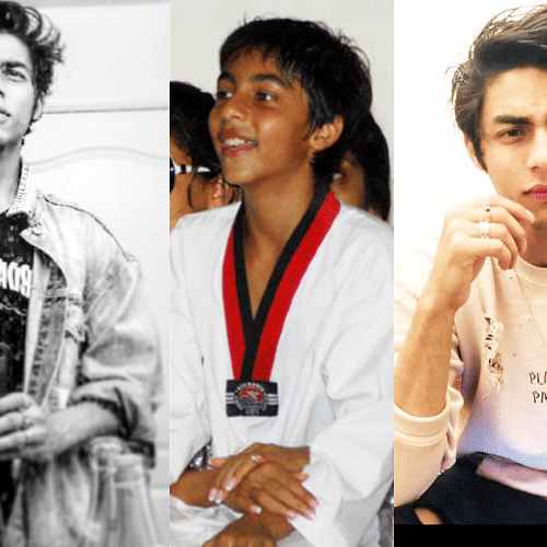 Birthday Special: Check out how Aryan Khan went from cuddly adolescent to tall hunk