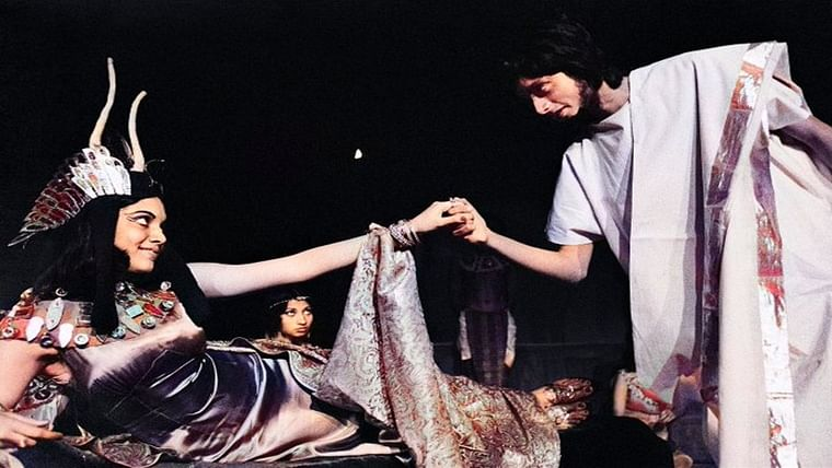 Blast from the past: Shashi Tharoor as Antony in this play but who's Cleopatra?