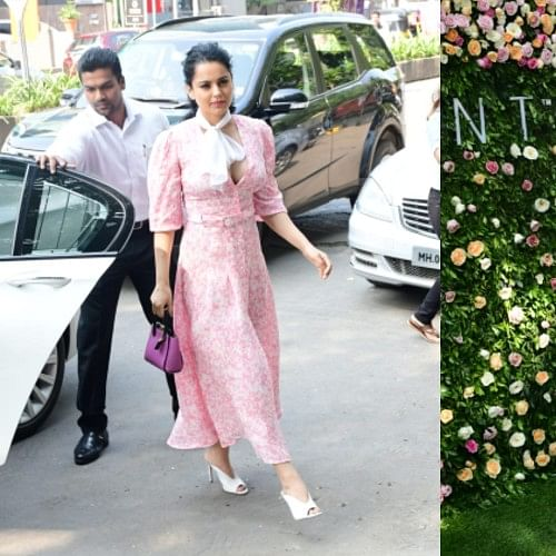 Kangana Ranaut is a royal beauty in this easy breezy pink summer dress