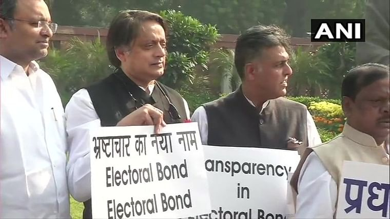 Winter Session Updates: Congress MPs protest in Parliament, demand transparency in Electoral Bonds