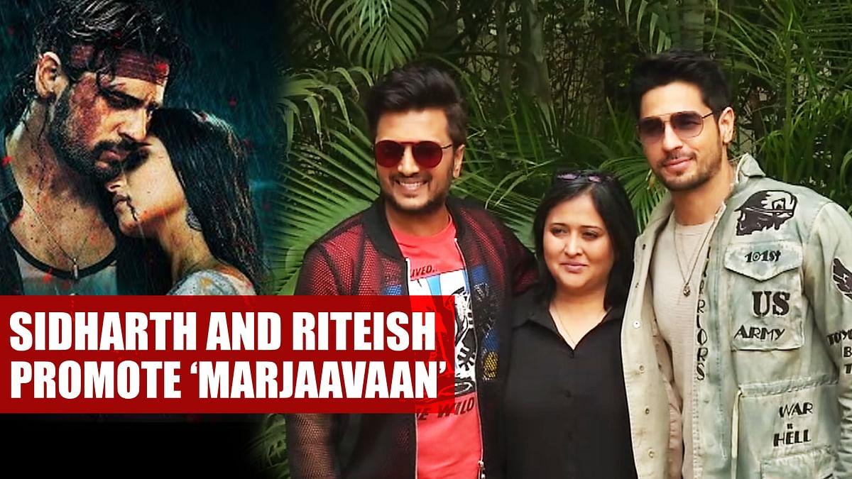Sidharth Malhotra And Riteish Deshmukh Promote 'Marjaavaan' In Delhi