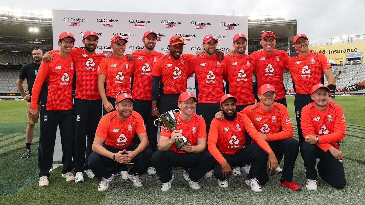 England completes a 3-2 win in the five-match T20I series after winning the super over.
