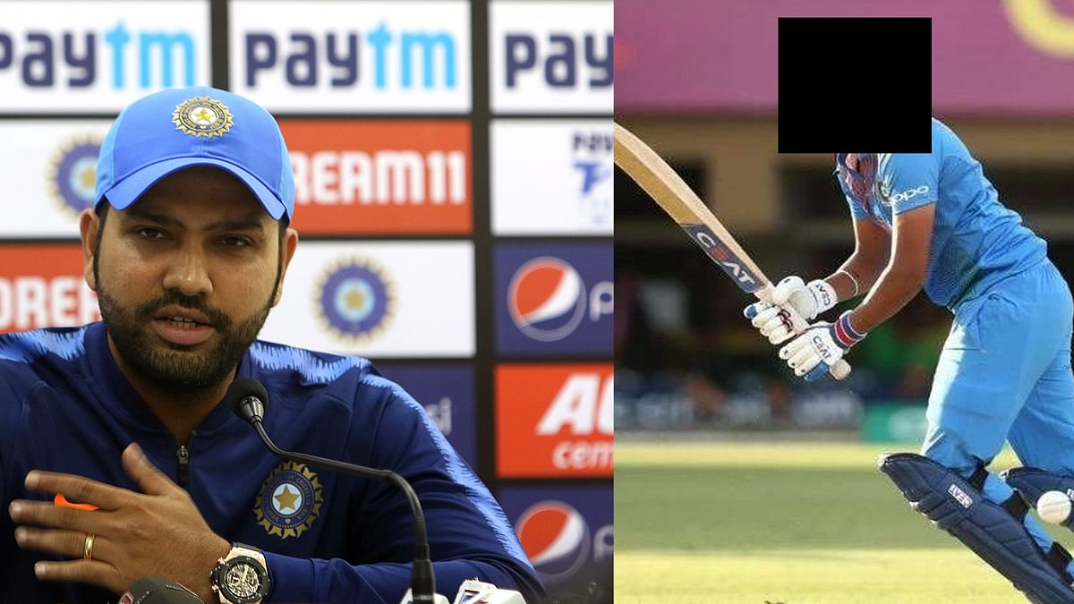 Rohit Sharma and the player who has played 100 T20Is
