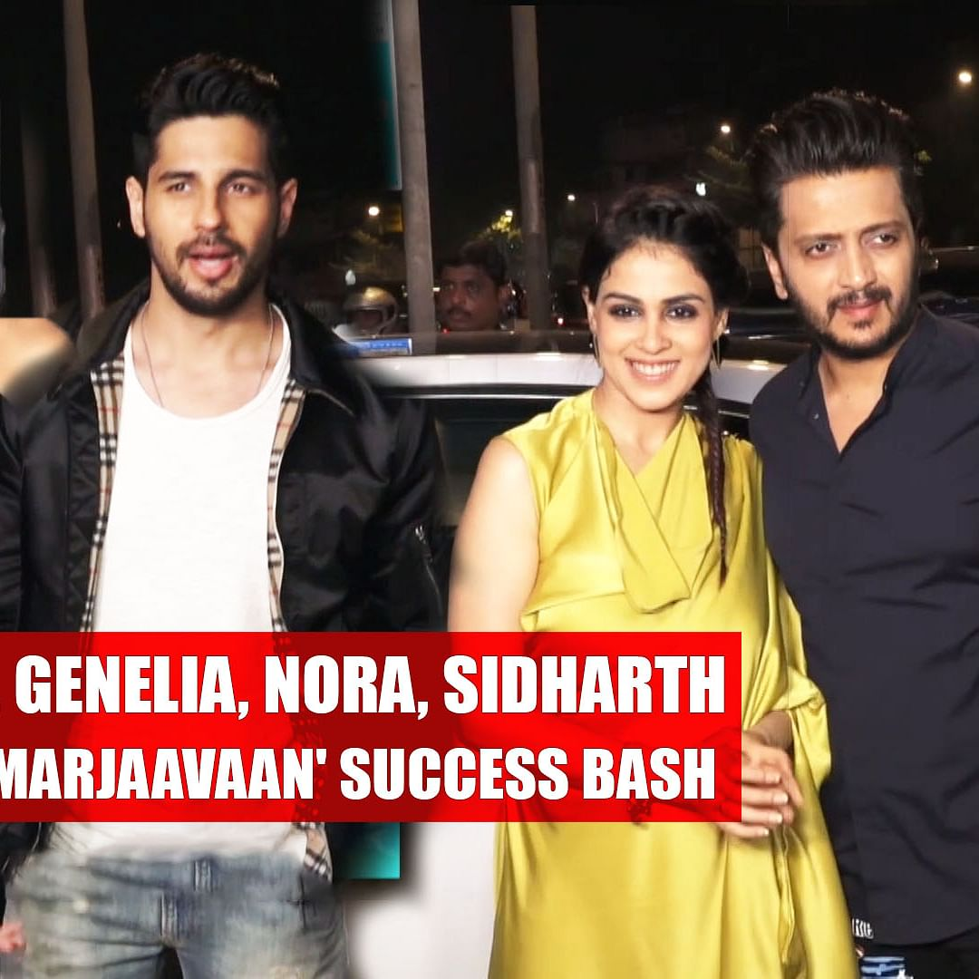 Riteish, Genelia, Nora, Sidharth attend 'Marjaavaan' success bash