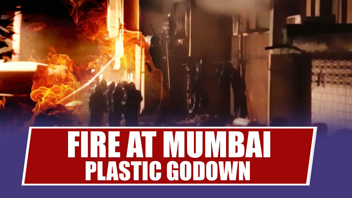 Mumbai: Fire Breaks Out In Plastic Godown