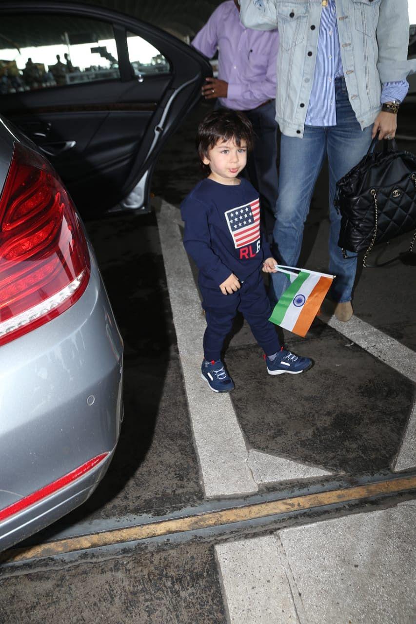 Taimur Ali Khan at the Mumbai Airport