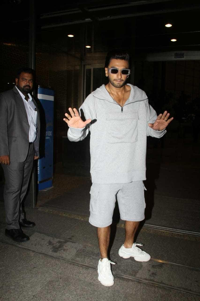 Ranveer Singh at Mumbai airport
