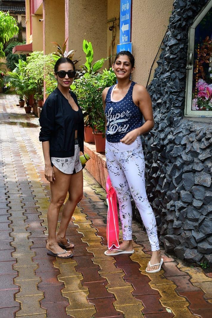 Malaika Aro and Kubra Sait at Diva Yoga