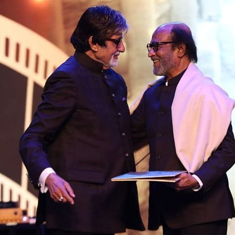 Rajinikanth thanks 'inspiration' Amitabh Bachchan at IFFI