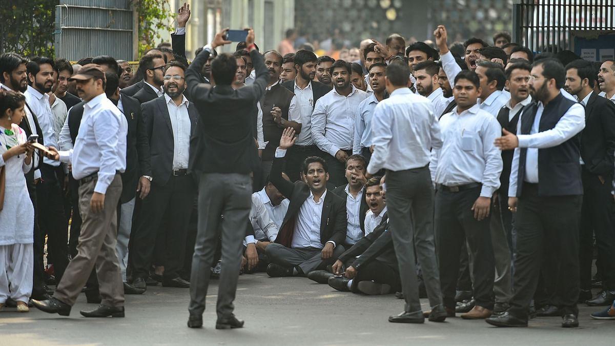 Tis Hazari Court complex, in New Delhi, Monday, Nov. 4, 2019.