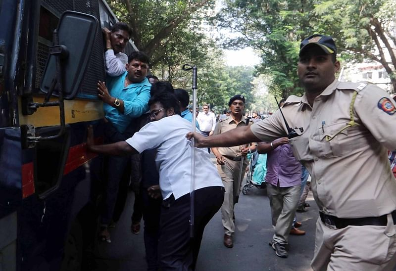 Farmers, MLA detained during protest march to Raj Bhavan