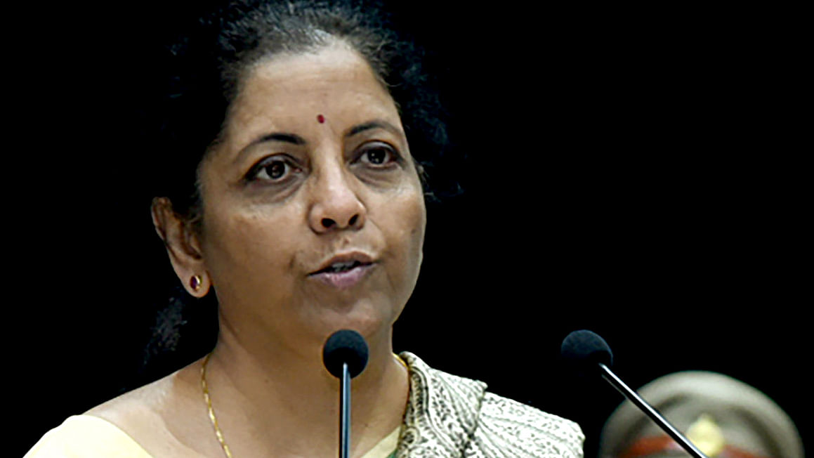 Union Minister for Finance and Corporate Affairs, Nirmala Sitharaman addressing at the Passing Out Parade Ceremony of 69th Batch of IRS (Customs & Central Excise), at National Academy of Customs, Indirect Taxes and Narcotics, in Faridabad.